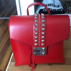 valentino red backpack